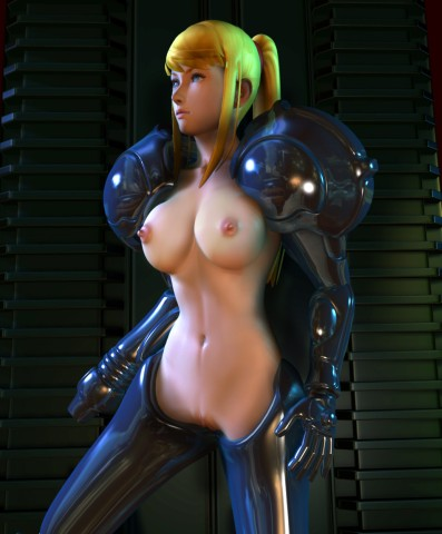 Busty chick in a spaceship uniform