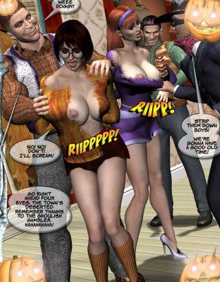 Adult porn comics with 3d sex party