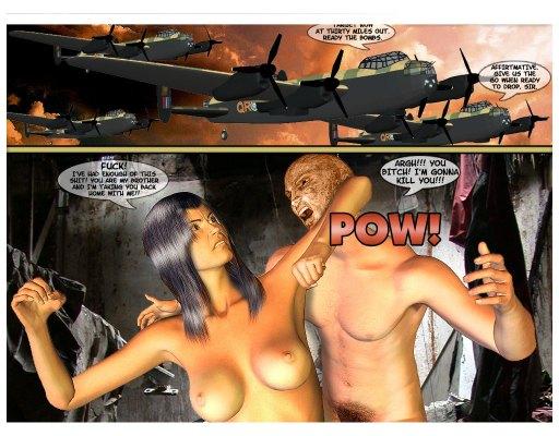 Army mutant guy attacks nude busty slut