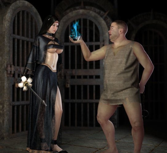 Fat guy bribes a sexy assassin