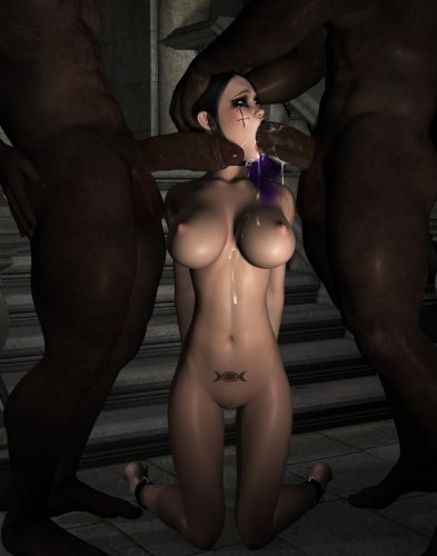 Fuck slave cries during the deepthroat