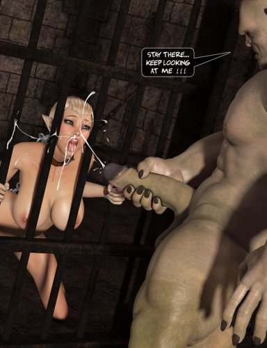 Prisoner slut swallows mosnter guardian sperm