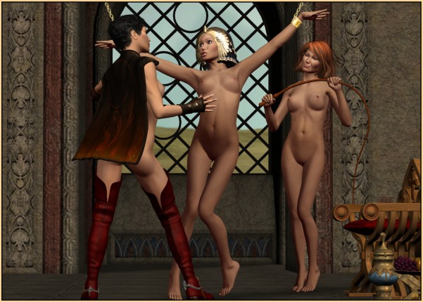 Animated lesbians with femdom and slave slut