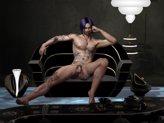 Virtual xxx gay model