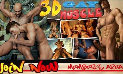 3D nude gays porn cartoons