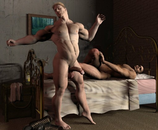 Naked studs gays show their soft cocks