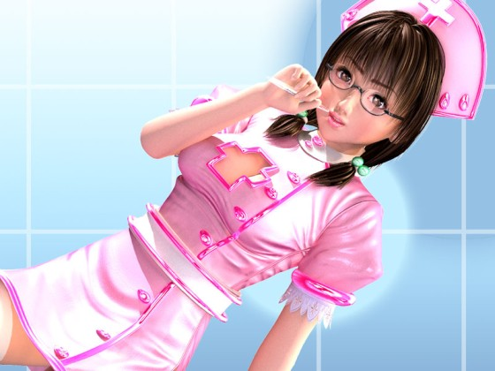 Sexy manga nurse with pink uniform
