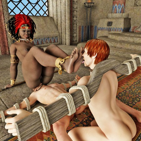 Indian tribe dominant mistress ask to smell foot