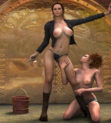 Lesbo domina and her slave girl