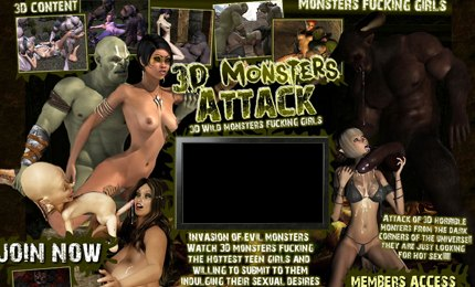 Fantasy monster porn with 3d monsters attack XXX