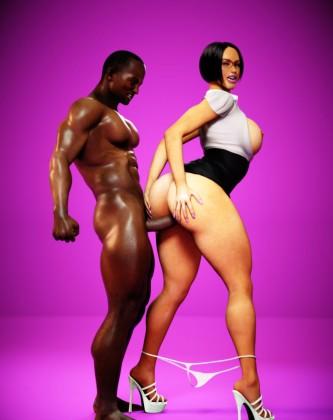 Fat milf teacher takes big black cock