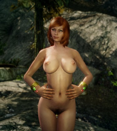 Round shaped body of a forest girl