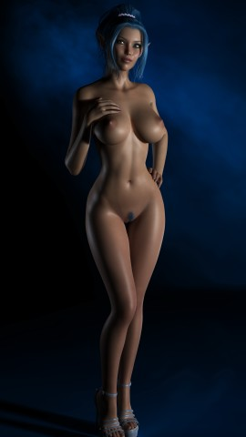 3d girl with wide hips and round ass