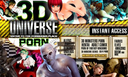 3D Monster porn from alien universe