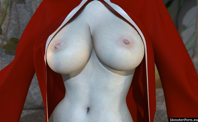 Perfect big boobs of a virtual 3d girl in adult games