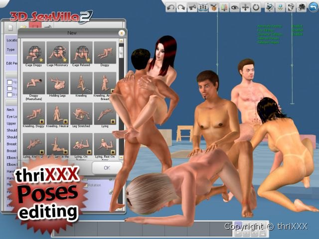 Virtual sex poses in interactive game