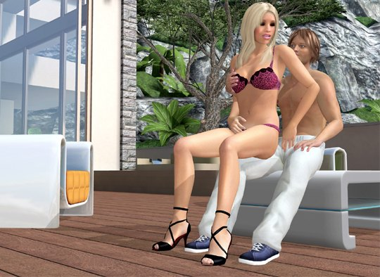 Virtual blonde and naked boy online fuck