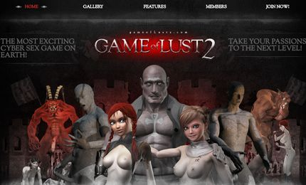Lustful monster fuck game with sensual lewd girls fucking