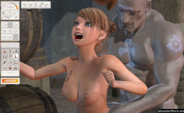 Steel penis slides into an elf pussy in lewd fuck game