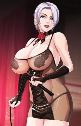 Busty hentai domina female with whip
