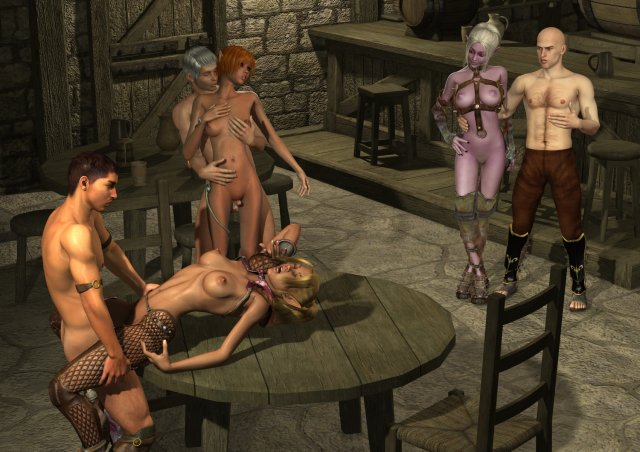 Epic orgy in a mystic tavern