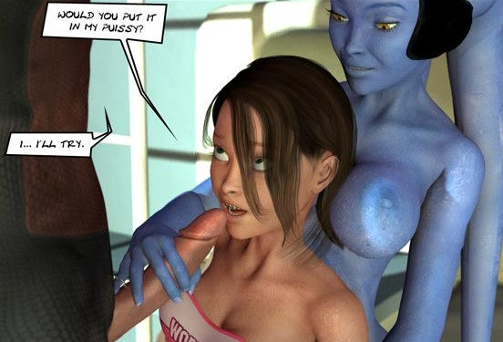 Avatar porn with amateur blowjob lesson