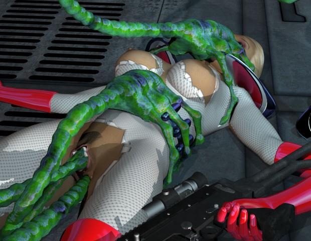 Cosmic girl fuck by insane tentacle aliens