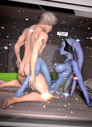 Avatar busty girl and shy naked guy