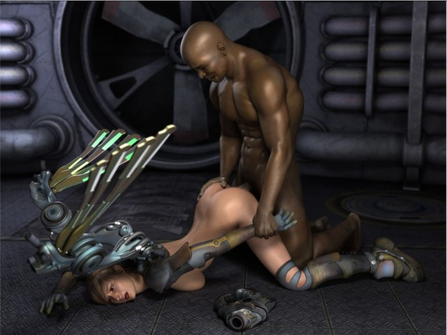 Black muscular monster fucks slave girl