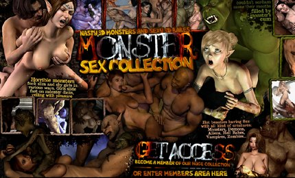 Fucking 3D monster sex collection
