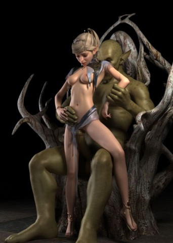 Ugly mutant nails naked elf girl