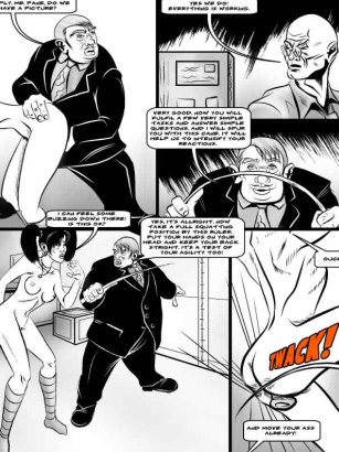 Butt spanking in adult pain comics