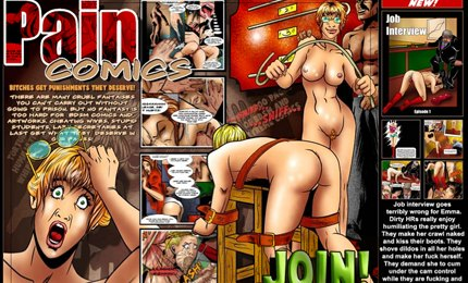 BDSM fuck cartoons in pain sex comics