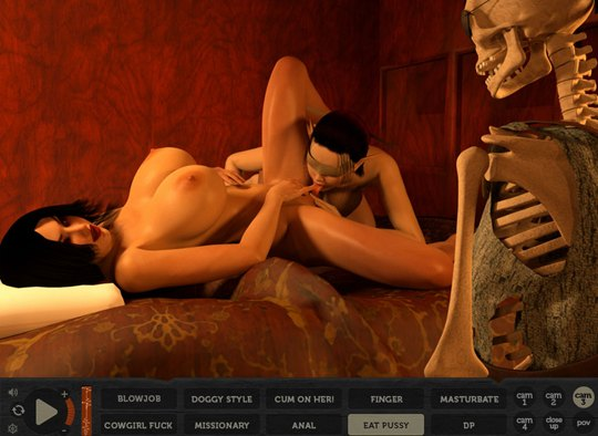 Interactive lesbian monster games