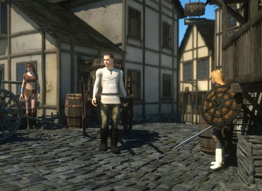 Medieval adventure monster sex game