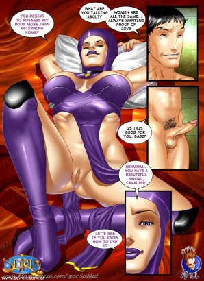 Nude queen dreams of hard comics cock