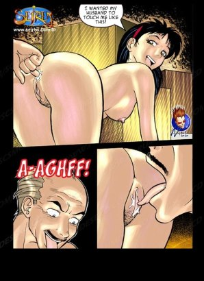 Old man licks pussy juice in comics