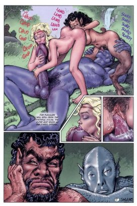 Porn monster fucks naked ladies cartoon