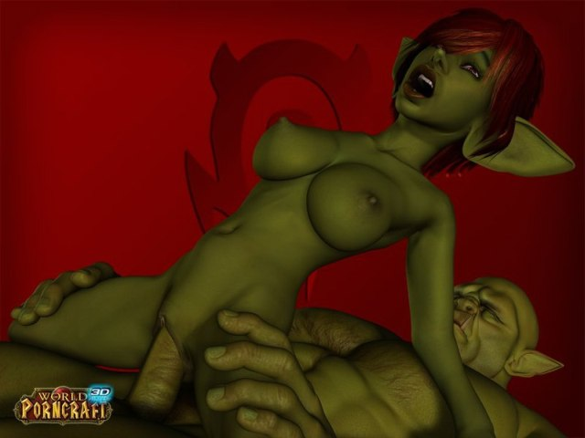 Green goblin fuck naked elf