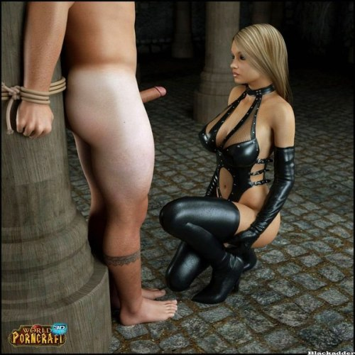 Submissive cock teasing by femdom